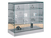 Glass counter showcase