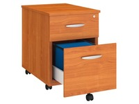 Mobile drawer cabinet 2 drawers cherry tree Bruneau Excellens