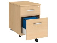 Mobile drawer cabinet 2 drawers beech Bruneau Excellens