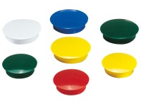 Set 20 magnets, Ø 27 mm, assorted