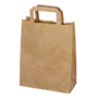 Pack of 50 kraft bags with flat handle 39 x 26 x 14 cm