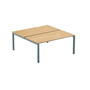 Arko, set of 2 straight desks, 140 cm, beech